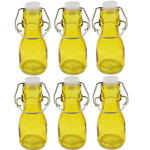 6x Mini Coloured Bottle With Swing Lid - Yellow