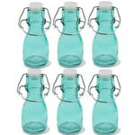6x Mini Coloured Bottle With Swing Lid - Green