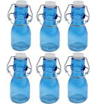6x Mini Coloured Bottle With Swing Lid - Blue