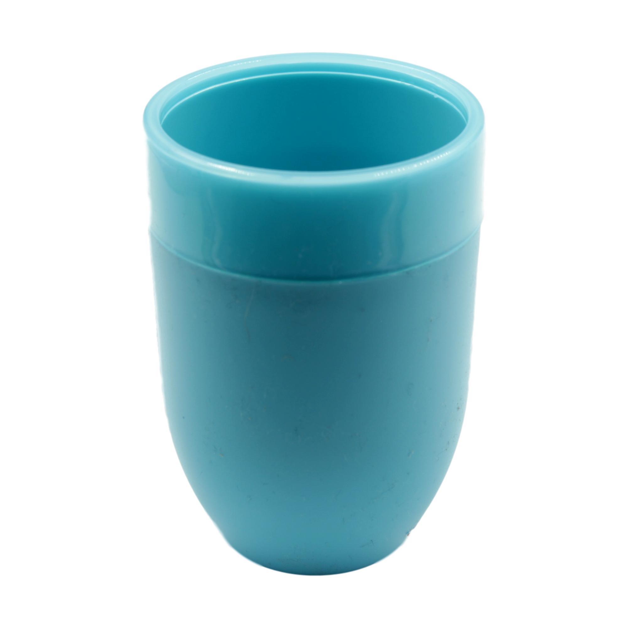 Blue Summer Brights Plastic Bathroom Tumbler