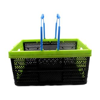 Green Collapsible Shopping Basket