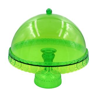 Ornate Domed Cake Stand Green
