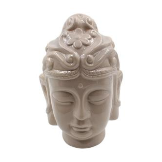 Beige Large Buddha Head Ornament