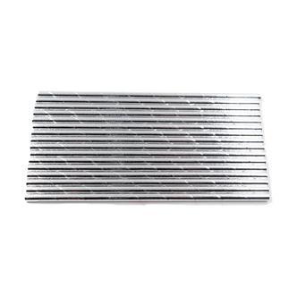 Silver paper straws