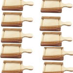 10x Mini Wooden Serving Boards 15cm x 8cm