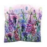 Purple Floral Design Seat Pad x1