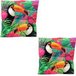 Exotic Toucan Bird Design Seat Pad x2