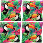 Exotic Toucan Bird Design Seat Pad x4