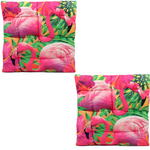 Exotic Flamingo Bird Design Seat Pad x2
