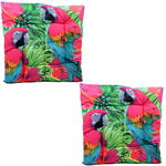 Exotic Parrot Bird Design Seat Pad x2