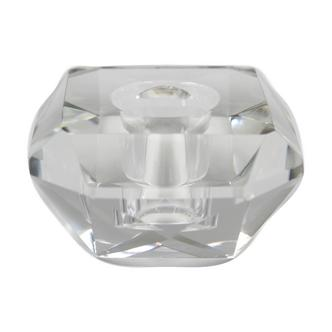 Clear Cut Glass Candlestick holder
