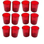 12x Red Glass Tea Light Holder