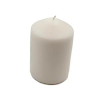 1x Long Burn Wax Ivory Church Pillar Candle 10cm x 7cm