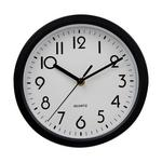 Black Traditional Wall Clock Numerical Face 23cm