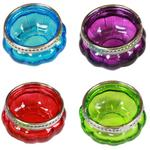 Assorted Colour Glass T-Light Holders
