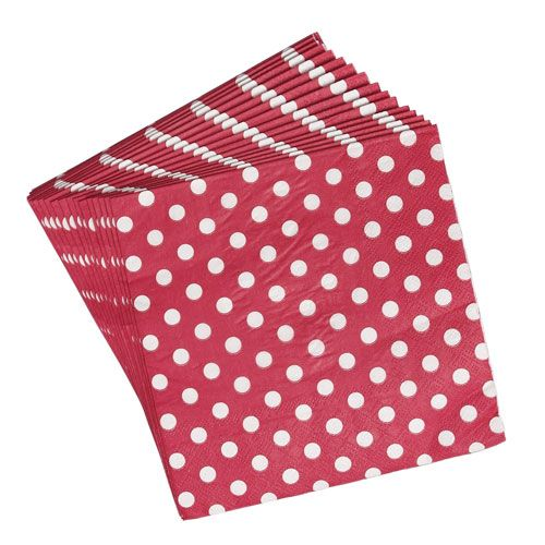 33x33m White Paper Napkins 2-Ply - 100 Pack