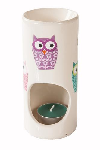 Cute Owl Design Incense & Fragrance Oil Ceramic Burner