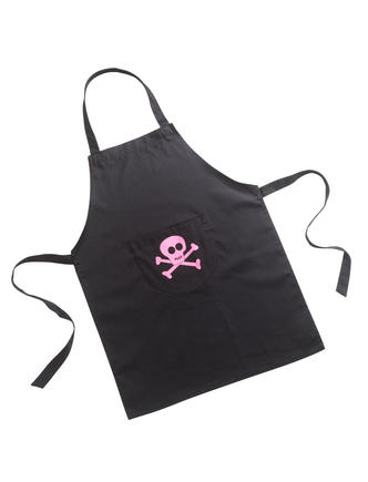 Pink Pirates Skull & Cross Bones Kids Childrens Apron in Cotton