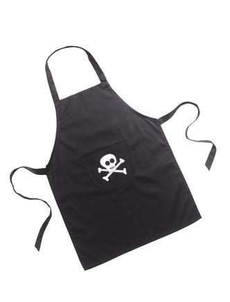 Pirate Skull Cross Bones Washable Childrens Kids Apron in Cotton (V1)