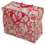 Red Vintage Paisley Storage Laundry and Toy Bag
