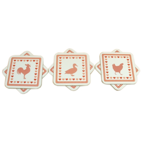 Country Kitchen Dining Table Cork Drinks Coasters Set/ 6