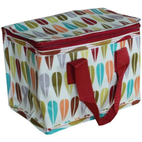 Retro Leaf Insulated Lunch Bag