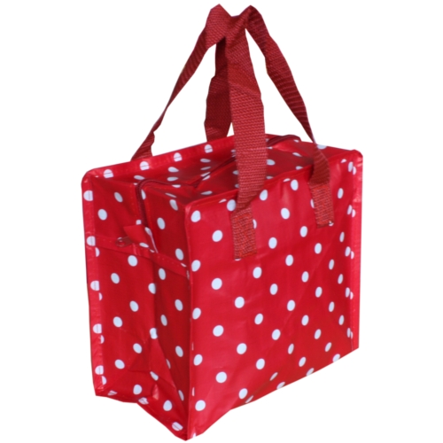 Red Polka Dot Charlotte Lunch Bag