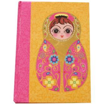 Small Yellow Babushka Doll Note Book
