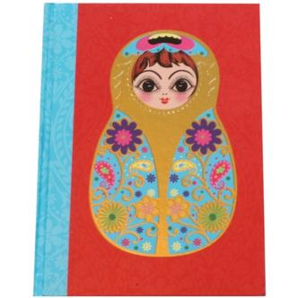 Small Red Babushka Doll Note Book