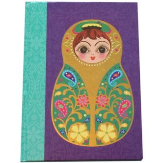 Small Purple Babushka Doll Note Book
