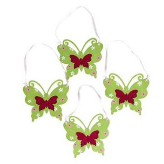 Wooden Hanging Butterfly Decoration