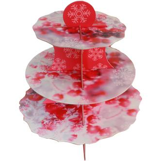 Christmas Winter Berries Design Cup Cake Mince Pie Stand