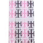 Pink & Black Union Jack Celebration Paper Chain 200 Links