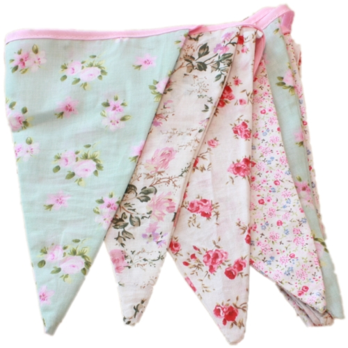 English Vintage Floral Design Party Bunting