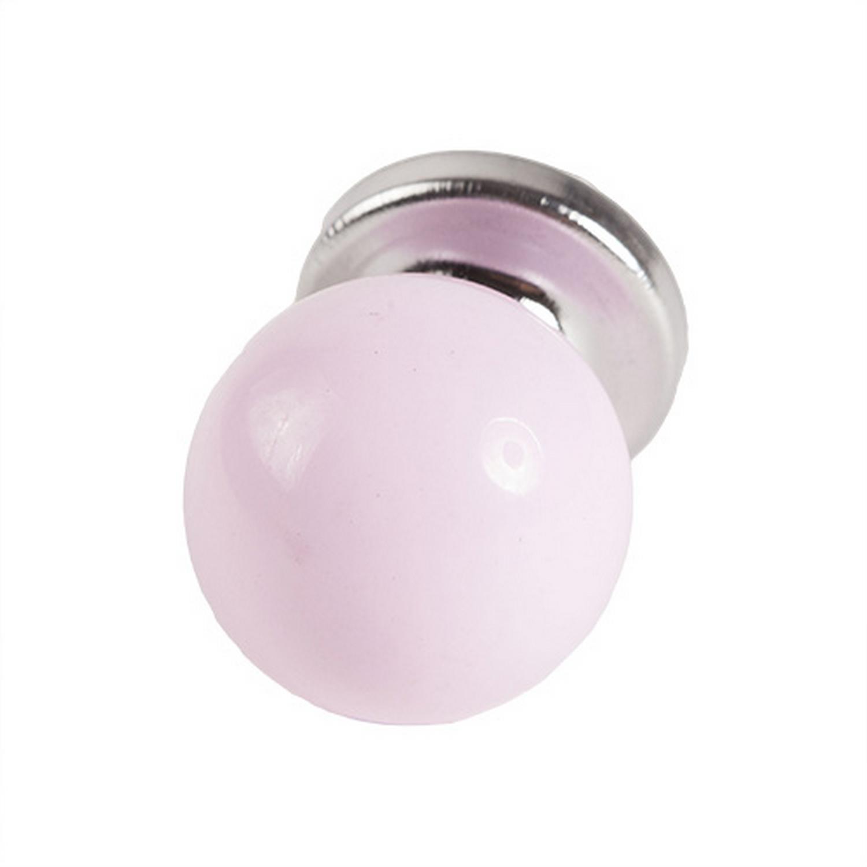 Round Baby Pink Pastel Coloured Acrylic Drawer Door Knob Handles Pull