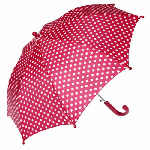 Childs Red Polka Dot Umbrella