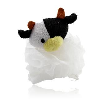 Cute Black and White Cow Design Bath Shower Body Puff Sponge (Loofah)