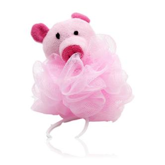 Cute Pink Pig Design Bath Shower Body Puff Sponge (Loofah)