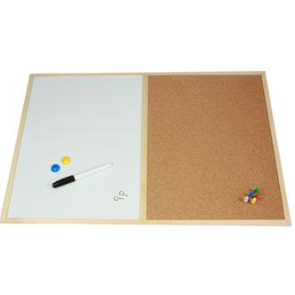 Memo Cork Pin & Magnetic White Board In One Combo 40 x 60cm