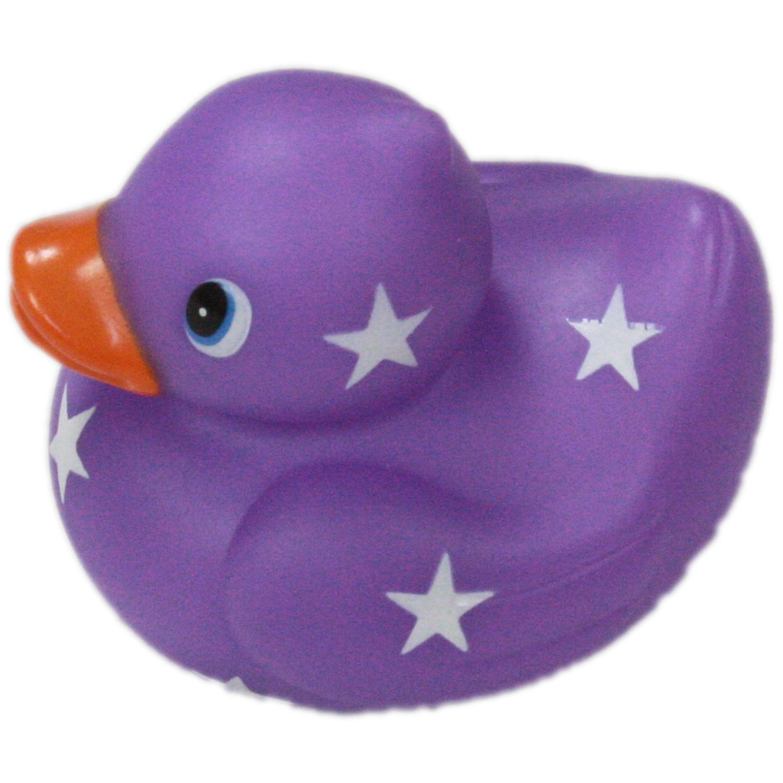 Purple Star Small Bright Bathroom Rubber Duck Or Desk