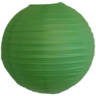 "Neon Green Coloured Ribbed Paper Lightshade 30cm / 12"" Dia"