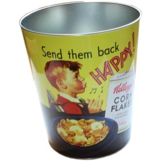 Retro Kelloggs Design Waste Paper Bin Send them back Happy