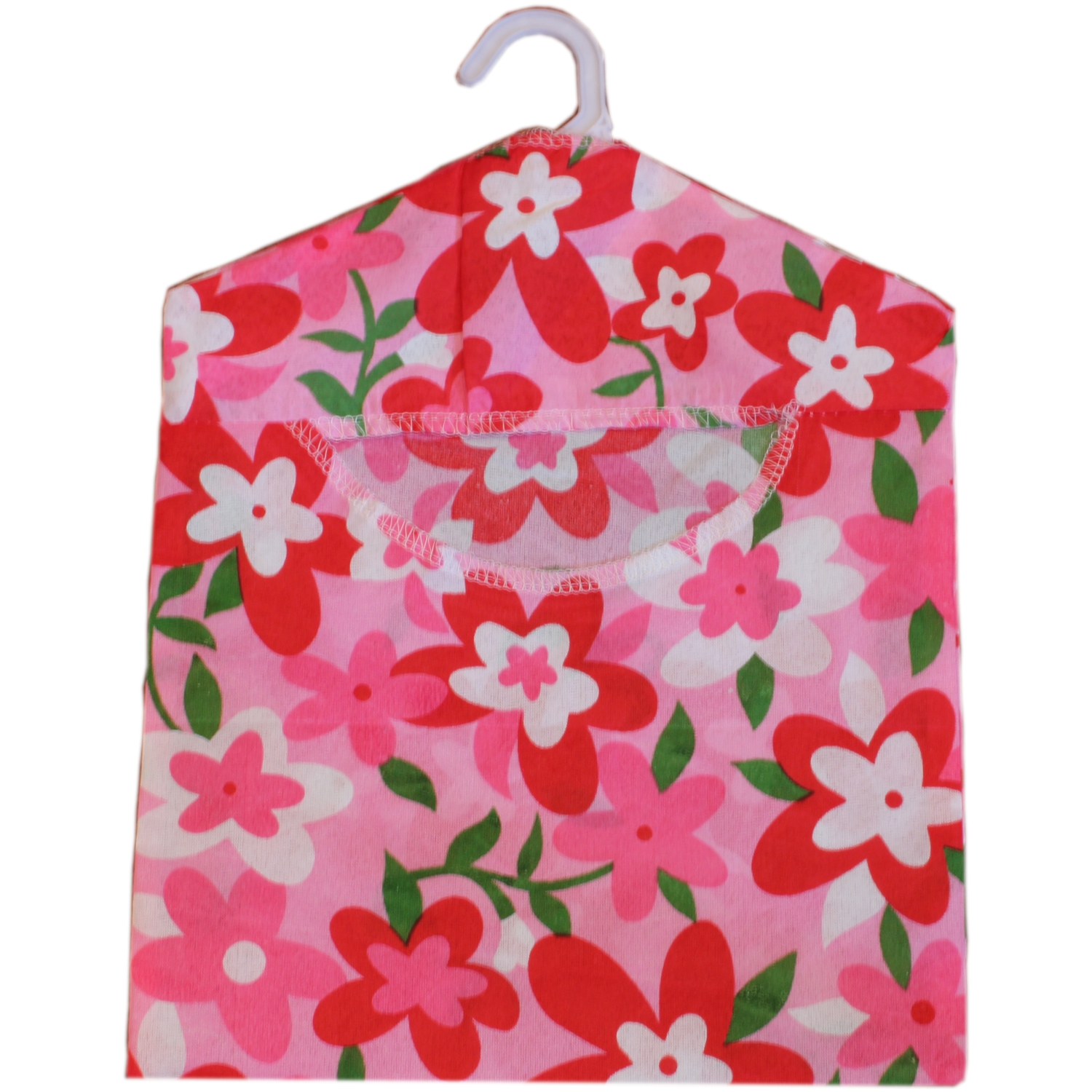 Economy Low Cost Red Floral Design Peg Bag
