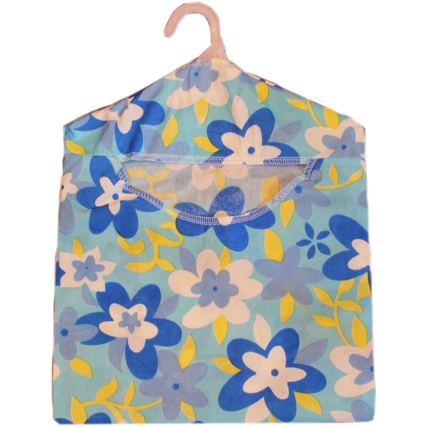 Economy Low Cost Blue Floral Design Peg Bag