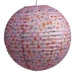 """70's Floral Fun Ribbed Paper Lightshade 40cm / 16"""" Dia"""