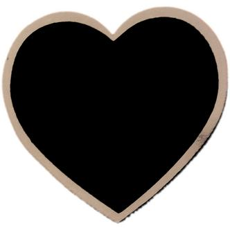French Grey Heart Shaped Blackboard Place Settings / Photo Line