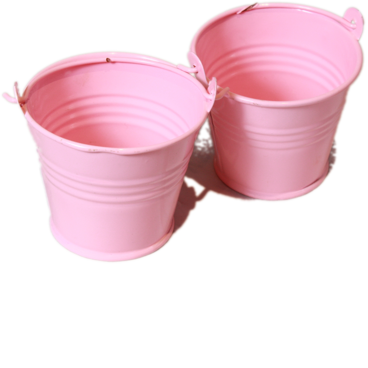 Set Of 2 Mini Craft Pail Buckets In Pastel Baby Pink
