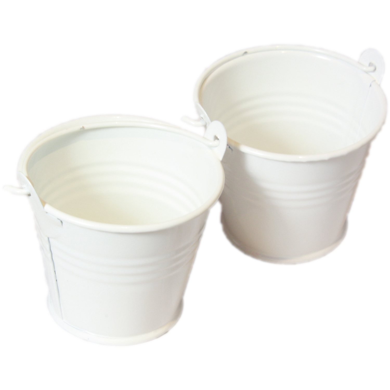 Set Of 2 Mini Craft Pail Buckets In Ivory Blendboutique