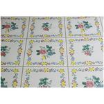 Floral in Squares Self Adhesive Decorative Vinyl 45cm x 120cm