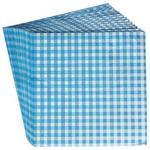 Set of Twenty Blue Gingham Check Printed Party Paper Napkins
